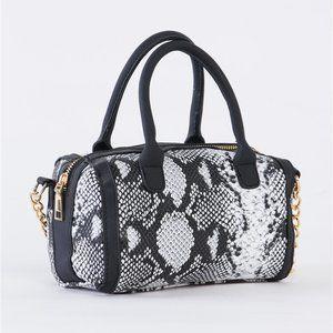 Get Jealous Snake Print Barrel Bag